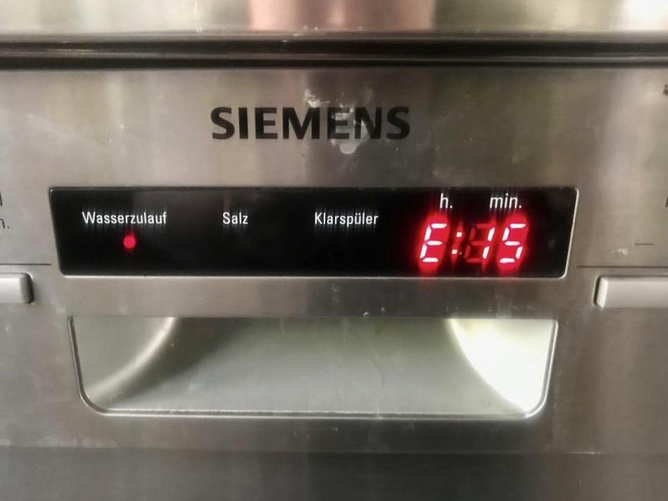 Siemens Geschirrspüler Fehler E15